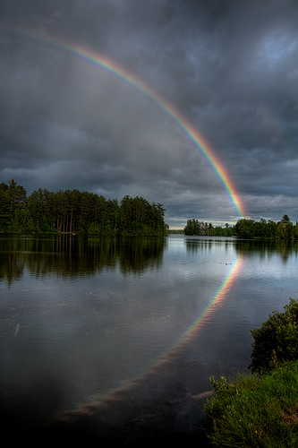 God and Noah Rainbow After the Flood