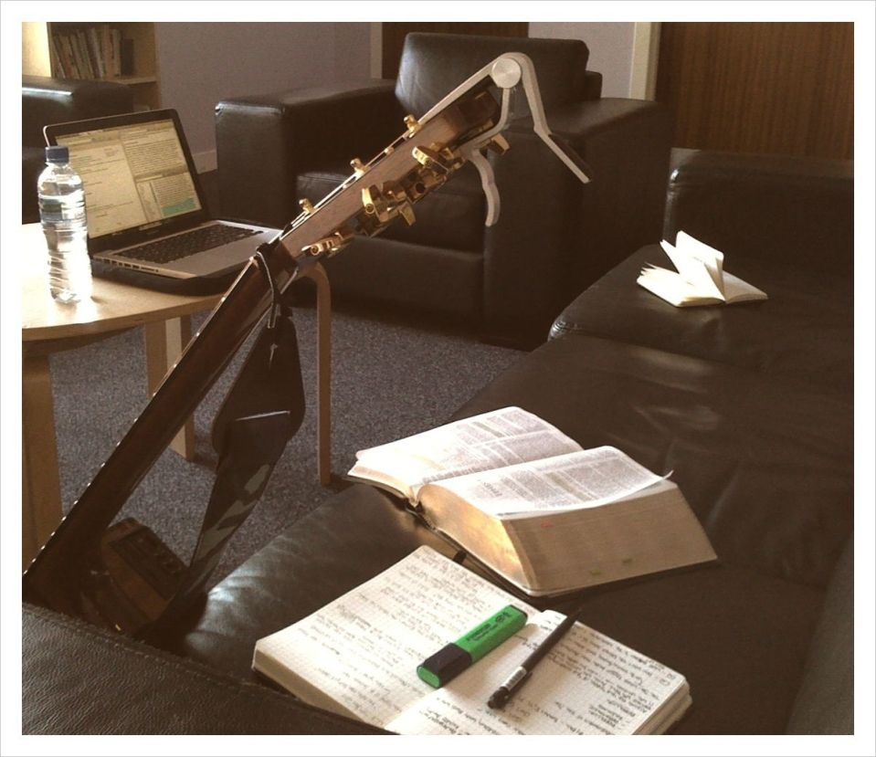 Guitar and Bible by Mark Hunter - CC