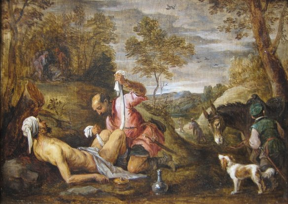 The Good Samaritan by David Teniers the younger after Francesco Bassano-Wikimedia Commons