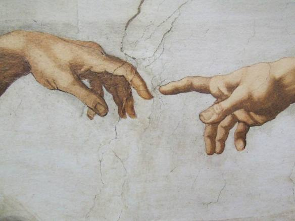 Hands from The_Creation_Michelangelo Wiki Commons