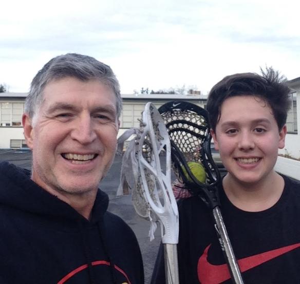 Lacrosse with Hayden