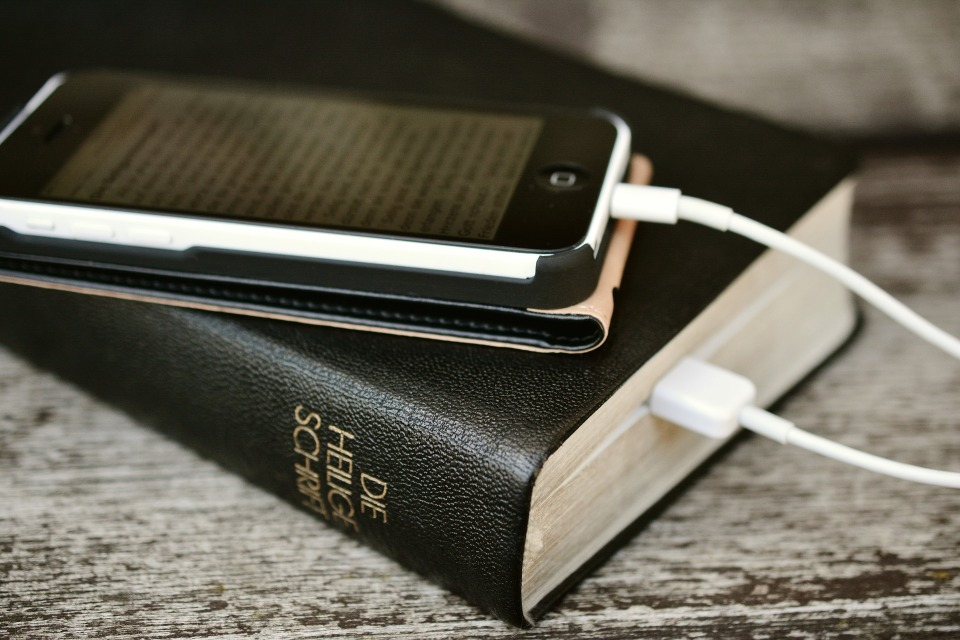 Bible on phone
