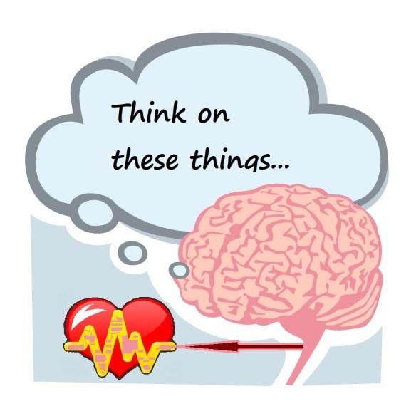 Thought Bubble above Brain via amenclinicsphotos ac - and heart via Ilya Dedykh - CC