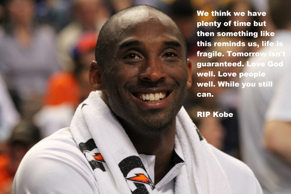Kobe via Alexandra Walt -- Public Domain with Kurt Bennett Quote